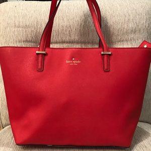Kate Spade Red Tote Bag